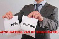 Waarom een referendum anti-democratisch is